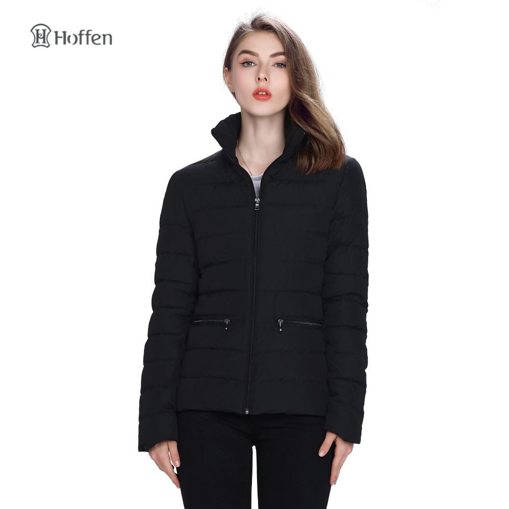 Hoffen New Arrivals Winter Jacket Women Short Downs Coats Zipper Design Slim Fit Womens Duck Down Jackets Windbreak 1279003(China (Mainland))