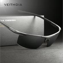 Veithdia de aluminio y magnesio gafas de sol polarizadas deportes hombres revestimiento de conducción espejo gafas de sol hombre gafas accesorios 6588