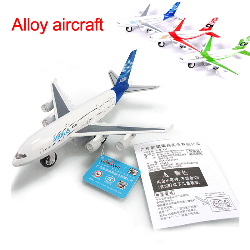 Alloy metal A380 airlines airplane model airbus 380 airways plane model stand aircarft boy toy gift(China (Mainland))