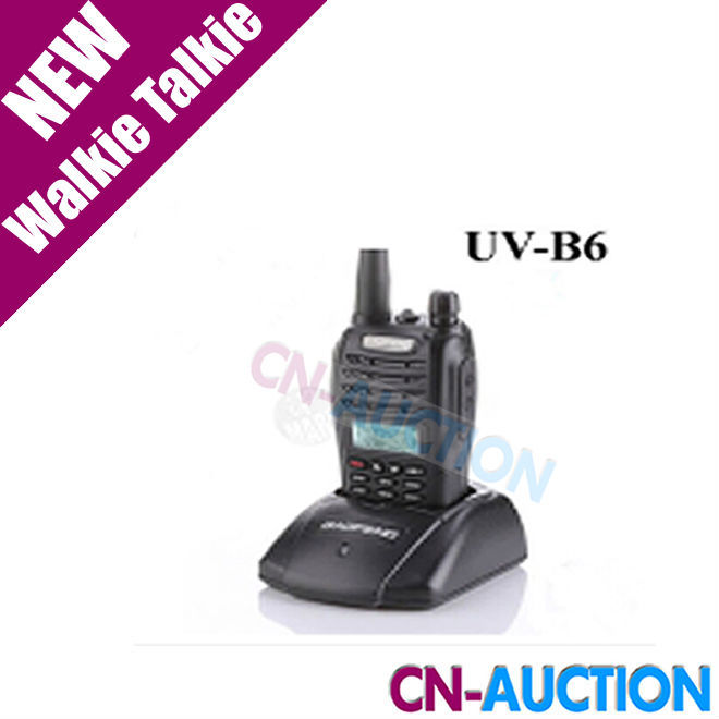 Hot ! BaoFeng UV-B6 UVB6 Walkie Talkie Transceiver Dual Band Two Way Radio 136-174Mhz&400-520Mhz Earphone Free 2pcs/lot