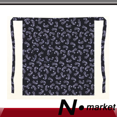 2015 Wholesale 30 pieces Sushi Japan Cotton Kitchen Apron Master Half Restaurant Print Blue White Chef Apron(China (Mainland))