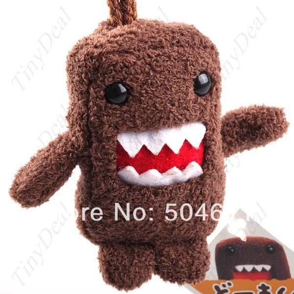 Free shipping 80mm Cute Mini Domo Kun Plush Doll Strap w/ Keychain<br><br>Aliexpress