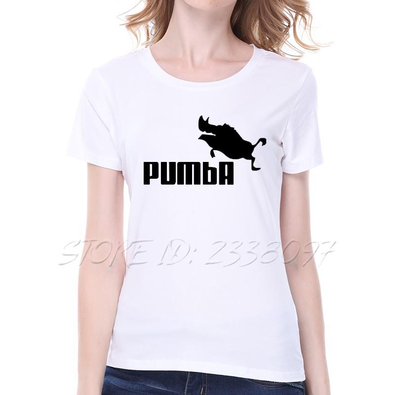 Pumba Print Tee shirt Femme 2016 Summer Short Sleeve Loose T-shirt Women Casual Large Size Cotton tshirt women tops