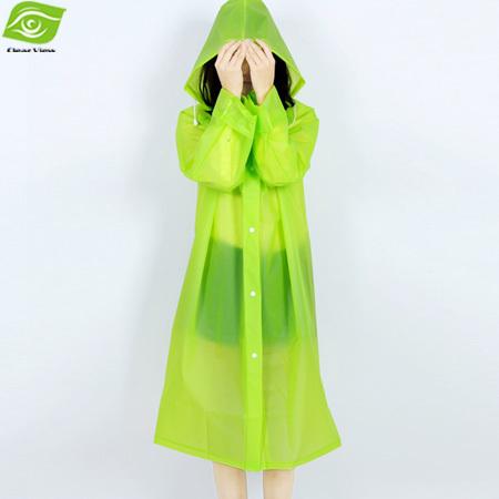EVA Environment Safety Raincoat With Hood For Men And Women Outdoor Rainwear Waterproof Poncho Over Knee Length Rain Coat(China (Mainland))