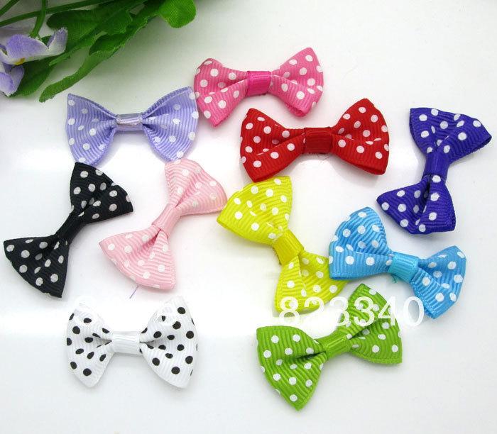 Fashion Home Holiday Decoration Crafts Ribbons 50pcs Mixed Baby Satin Applique DIY Craft Wedding Bow Tie Decoration 3.5x2.2cm(China (Mainland))