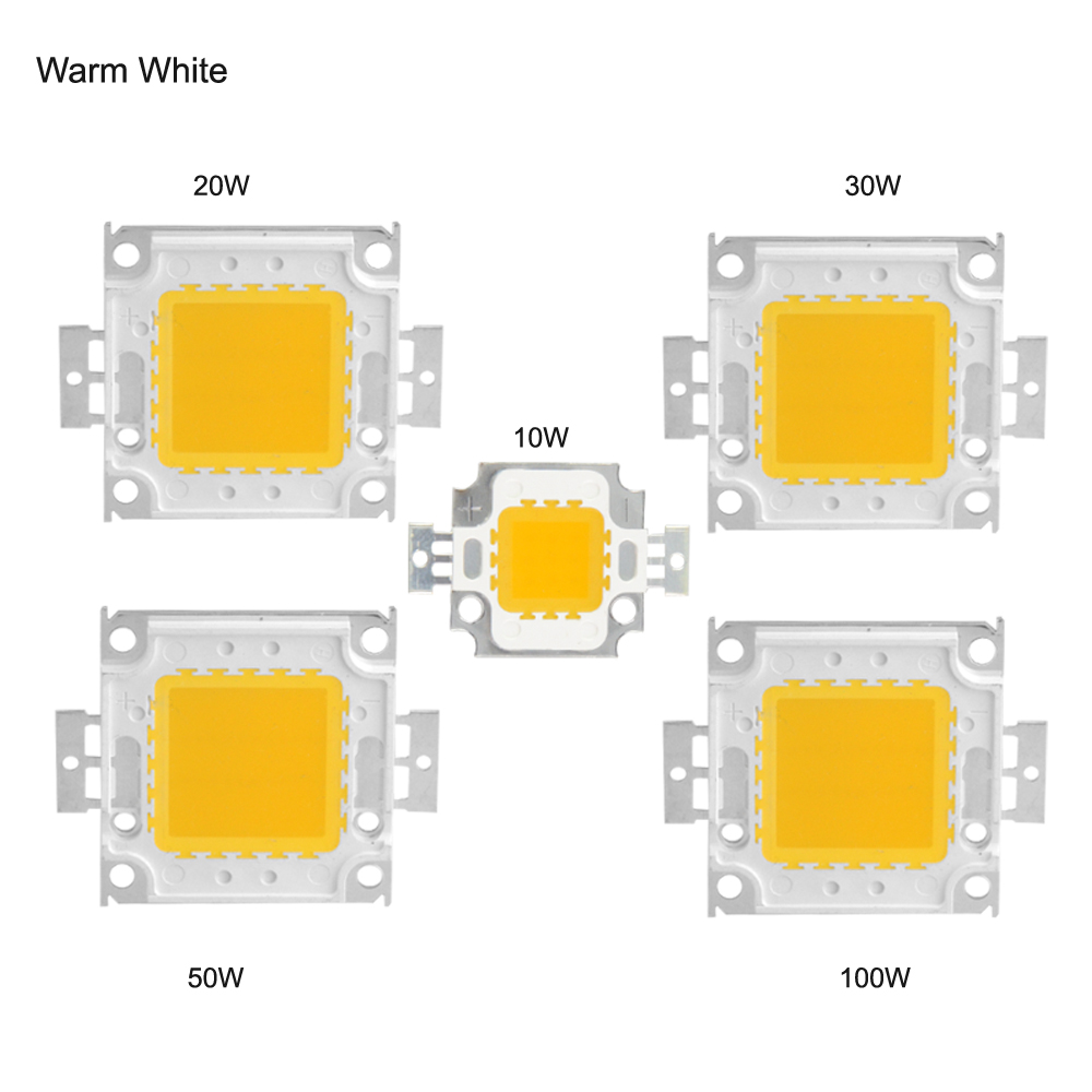 LED Chip 10W 20W 30W 50W 100W COB Integrated Diodes Chip LED lamp 12V 36V light Source For DIY Floodlight Spotlight Lawn Lamp(China (Mainland))