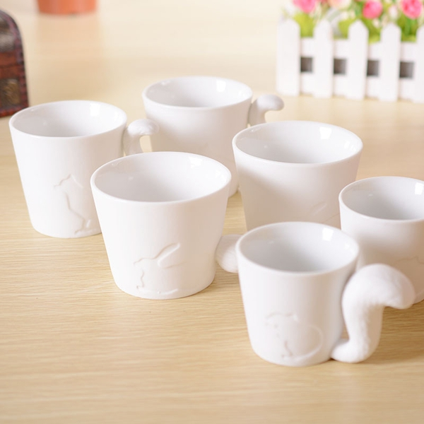 Creative Cute Kinto Animal Cup Frosted Ceramic Translucent Candlestick Mugs(China (Mainland))