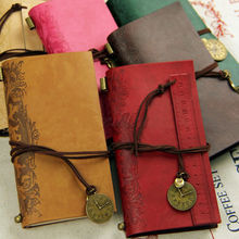 2016 New String Hold Blank Journal Travel Diary Ruler Notebook Vintage PU Leather Cover Hot (China (Mainland))