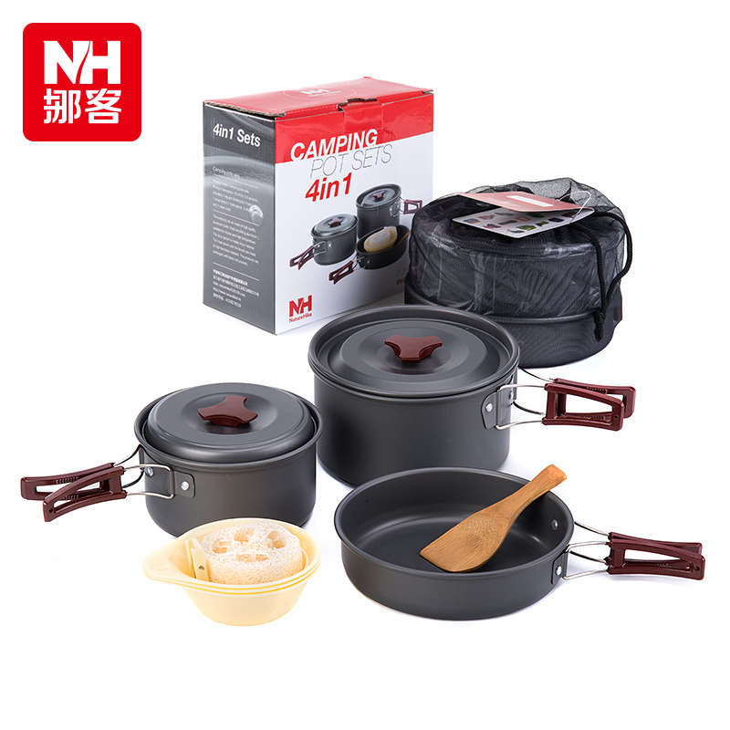 New 2-3 Person Picnic Pot Outdoor Camping Cookware Portable Pot Sets Only 0.68kg NH15T203-G<br><br>Aliexpress