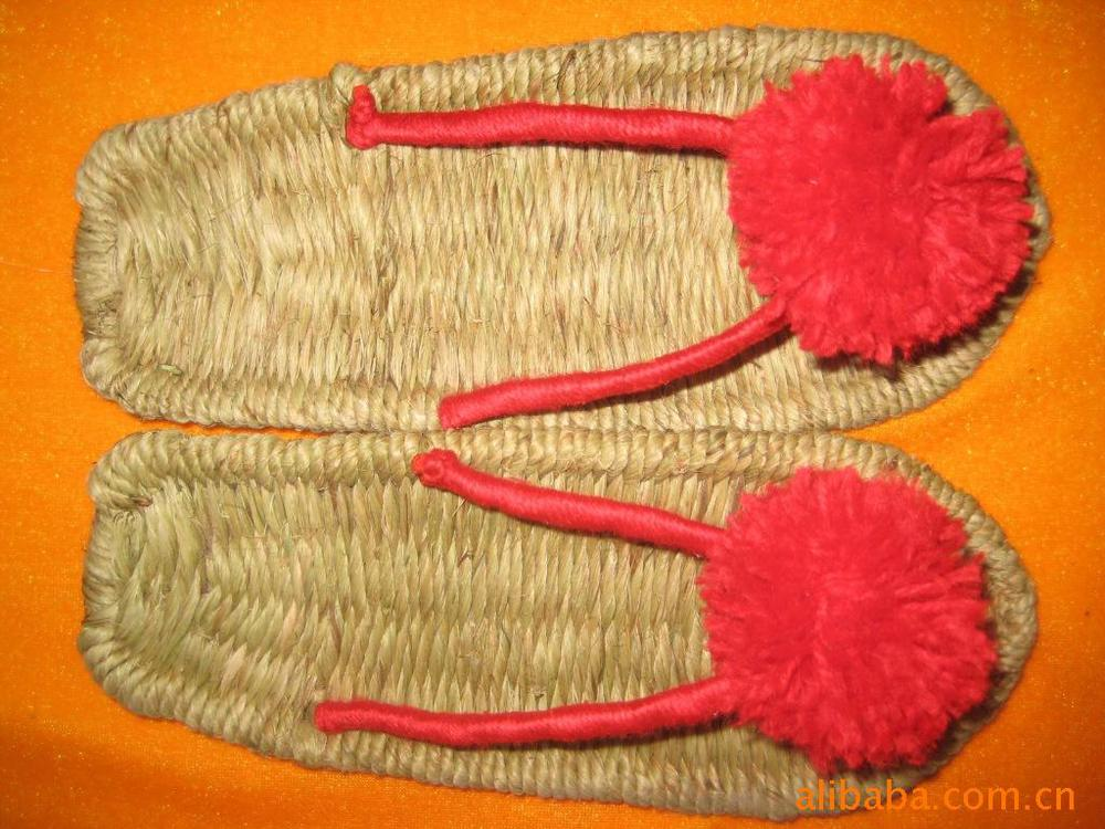 Manufacturers supply hemp slippers , handmade hemp shoes , natural sandals , massage sandals(China (Mainland))