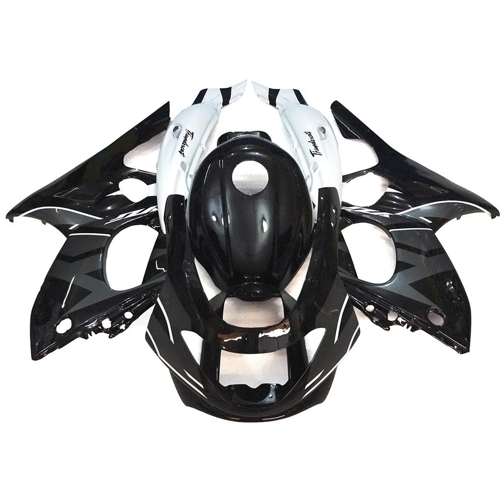 Fairings For Yamaha YZF600R Thundercat 97 98 99 00 01 02 03 04 05 06 07 Motorcycle Fairing Kit ABS Plastic Gloss Black White New(China (Mainland))