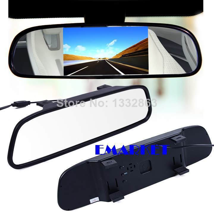 2pcs/lot LCD Screen Car Rear View Backup Parking Mirror Monitor Sensor DVD/GPS/TV C8 14750(China (Mainland))