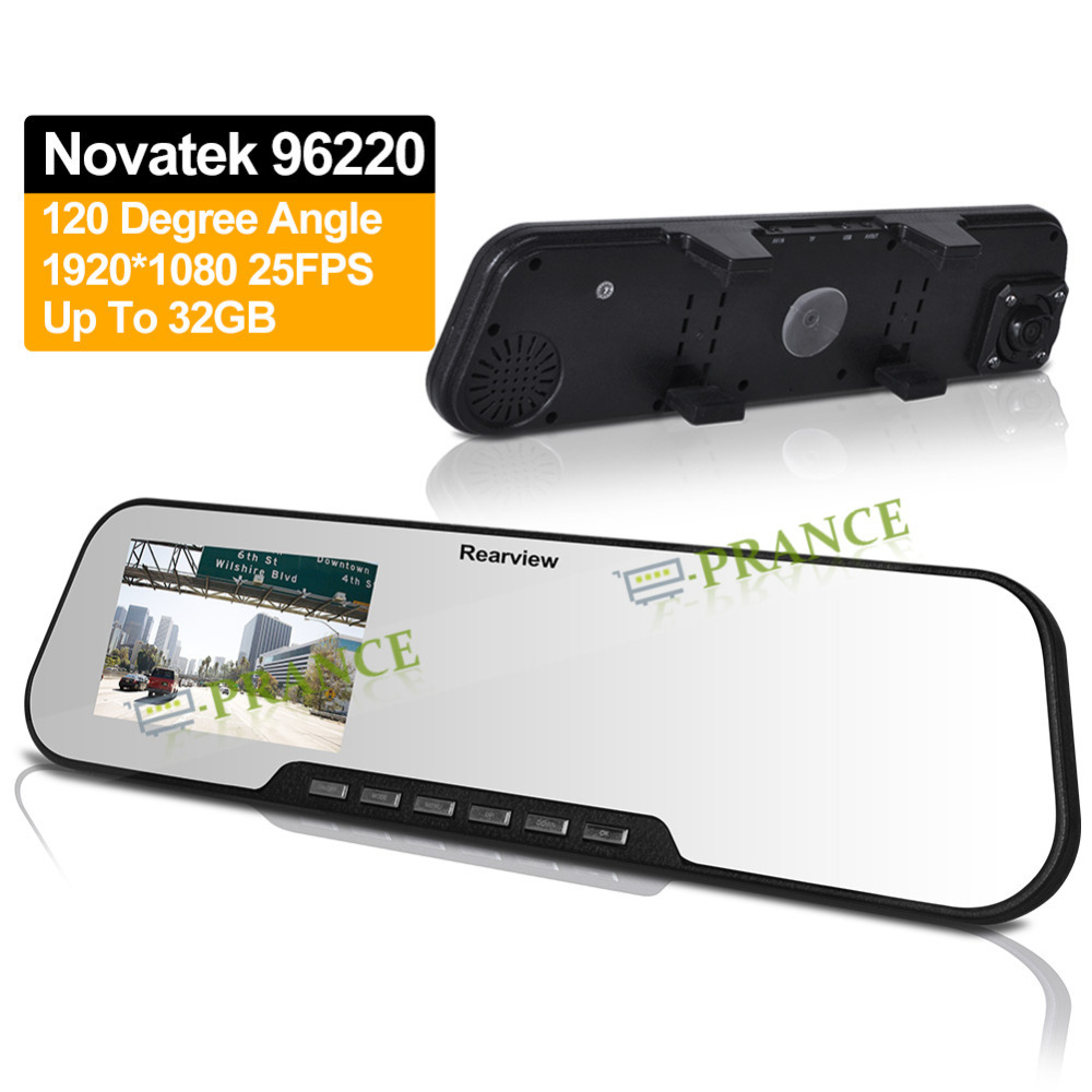 2.7'' LCD Novatek 96220 Car Rearview Mirror Monitor 1080P Full HD DV200 Mirror DVR Rear View Camera +IR Night Vision+SOS OT20