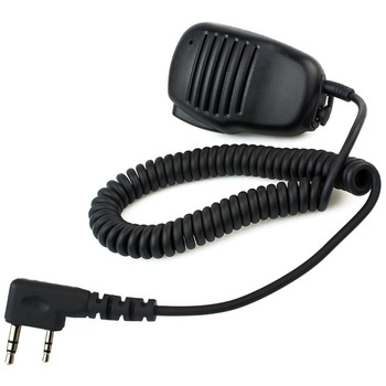 Hot Black 2 Pin Mini PTT Speaker MIC For Kenwood Walkie Talkie QUANSHENG PUXING WOUXUN TYT HYT BAOFENG UV5R 888S Radio C9021A