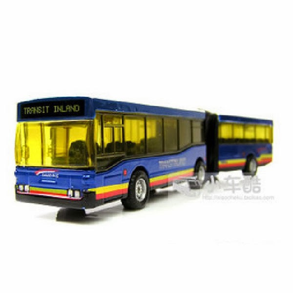 New Blue Funny Alloy Section Back Double Articulated Best-selling Products Bus Toys(China (Mainland))