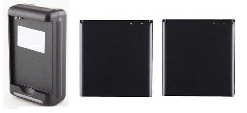 New 2x 1700mah BA800 OEM Battery Charger For SONY Xperia S V SL LT26i LT25i Xperia