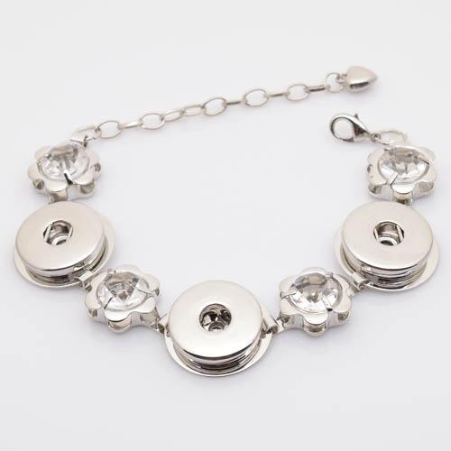Hot sale snap button armband bracelet, snap bracelet with rhinestones NB1002(China (Mainland))
