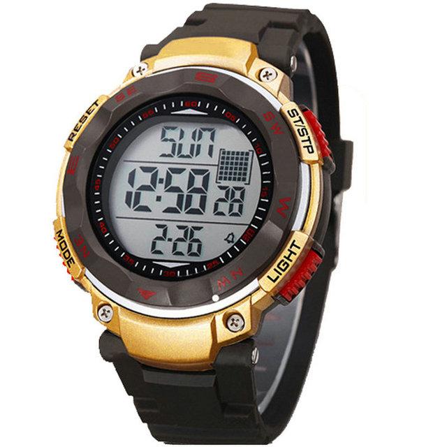 Relojes хомбре совершенно из светодиодов цифровой военный армейское спорт часы мужчины в из светодиодов 5ATM на открытом воздухе наручные часы Relogio Masculino погружения