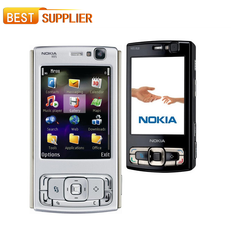 2016 Limited Rushed Color Normal(>10mm) Slider Gsm/wcdma Original Nokia N95 8gb ROM 5mp Camera Unlocked Cell Phone and Shipping(China (Mainland))