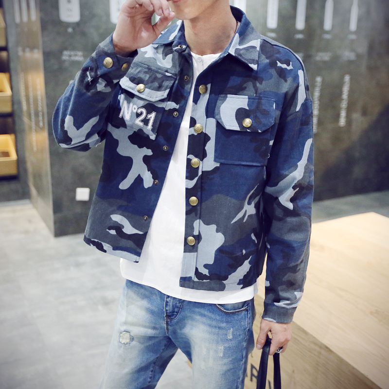 2015 autumn and winter jacket outerwear male slim outerwear top wadded jacket male Camouflage