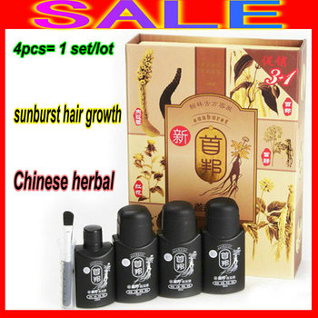 Big Sell HK POST 100% Original real result sunburst hair growth 3in1 shou bang Help Hair regrow and health without side effects