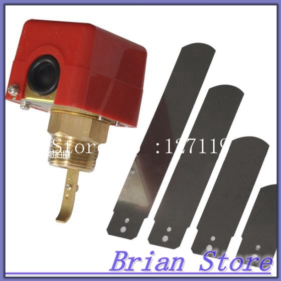 1/2 BSPP 220V 3A Water Paddle Flow Switch  Thread Connection SPDT Contacts Red<br><br>Aliexpress