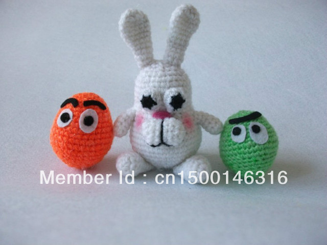 Handmade wool toys easter bunny and eggs, 10cm long,contains two eggs(color can be customized)