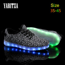 2016 New Arrival Casual Shoes Led Shoes Glowing 11 Colors LED Men Women Fashion Luminous Led Light UP Shoes for Adults Size35-45