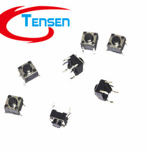 100Pcs/lot  Tactile Push Button Switch Momentary Tact 6x6x5mm DIP Through-Hole 4pin (China (Mainland))