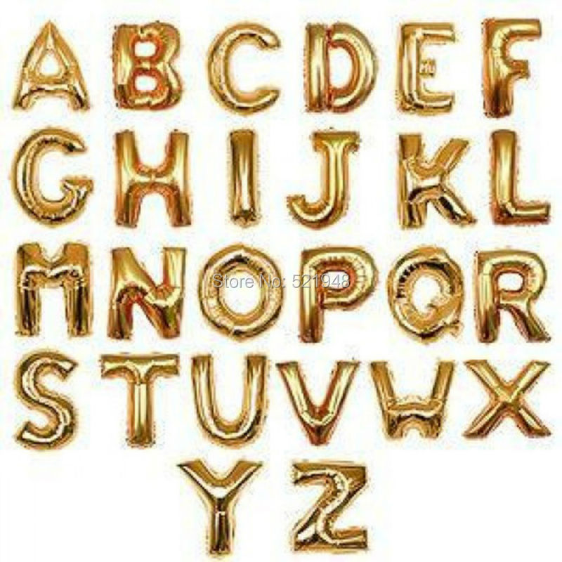 gold alphabet letters balloons foil balloon birthday new year party wedding decoration balloon 16 inch