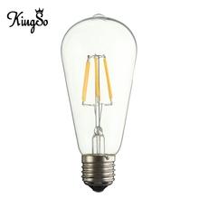 Kingso E27/E26 ST58 6W COB LED Filament Light Non Dimmable 600LM Edison Style Vintage Retro Light Bulb Energy Saving 110V(China (Mainland))