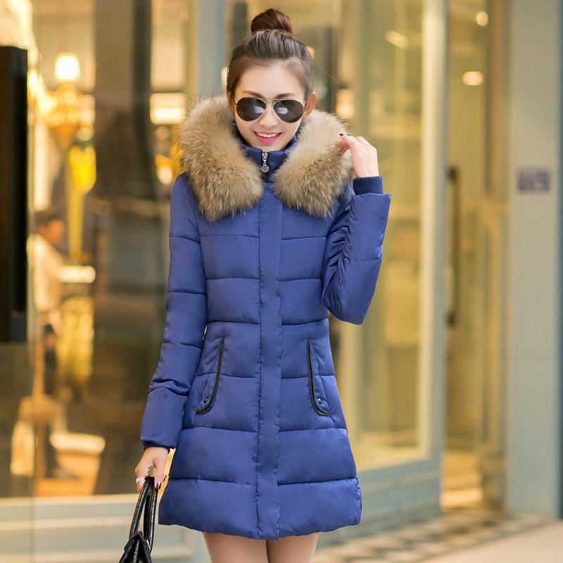 2015 nouvelle veste d 39 hiver femme manteaux slim capuche down veste femme col de fourrure. Black Bedroom Furniture Sets. Home Design Ideas
