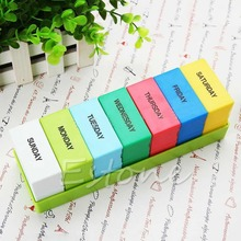 7 Days Colorful Holder Container Organizer Case Weekly Storage Pill Medicine Box-J117(China (Mainland))