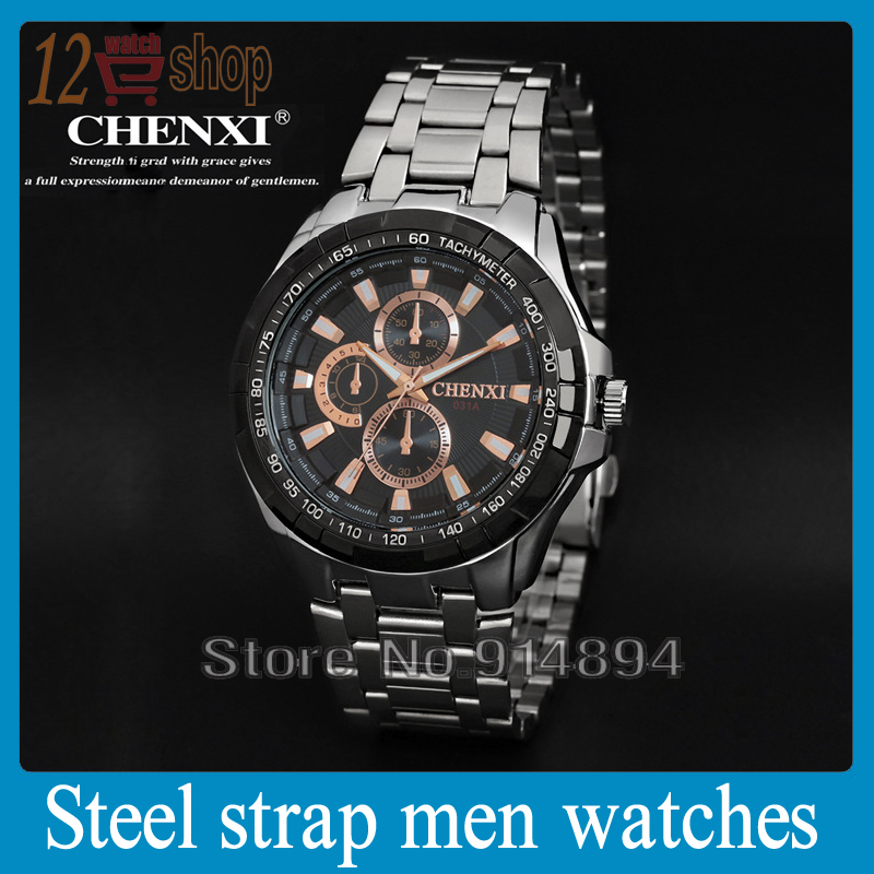 New Current Watches Chenxi Brand Men Luxury Watch Full Steel Wristwatches Fashion Casual Quartz Clock Analog Male(China (Mainland))