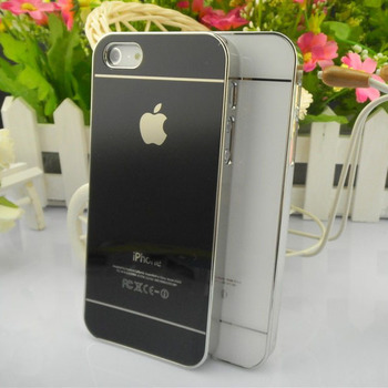 1Pcs Mirror Glass Case Cover For iPhone 5 5G,Dual Color Plating Plastic Hard Back Skin,Hot selling, Free Shipping