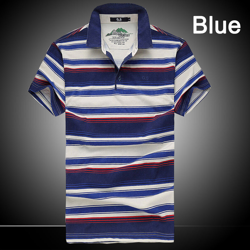 2015 Fashion Striped Polo Shirt Tricolor Casual Polo Shirt Cotton Short Sleeve Plus Oversized 4XL High Quality Z1213(China (Mainland))