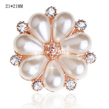 Buy HBC115 20pcs/lot metal pearl rhinestone button flatback Hair Flower Wedding pearl embellishment for $8.55 in AliExpress store