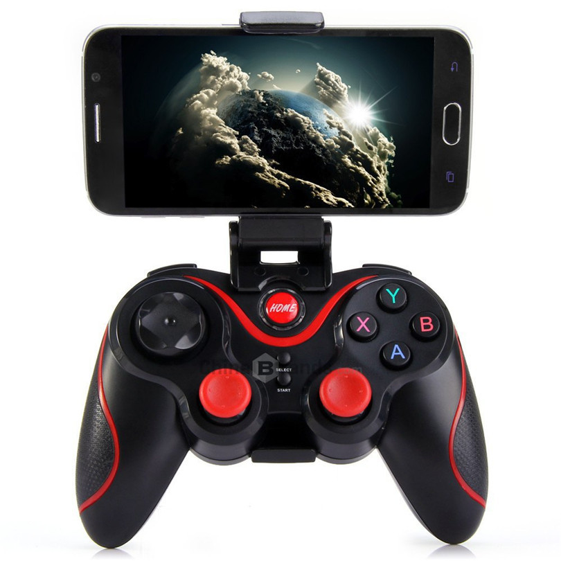 100% New Wireless Bluetooth Game Joystick Gaming Controller Gamepad for iPhone for Samsung Android Mobile Phones Smart TV Box(China (Mainland))