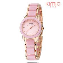 Brand KIMIO Fashion Ceramic Women Watches Luxury Dress Lady Quartz Bracelet Watch Elegant Design ladies Wristwatches