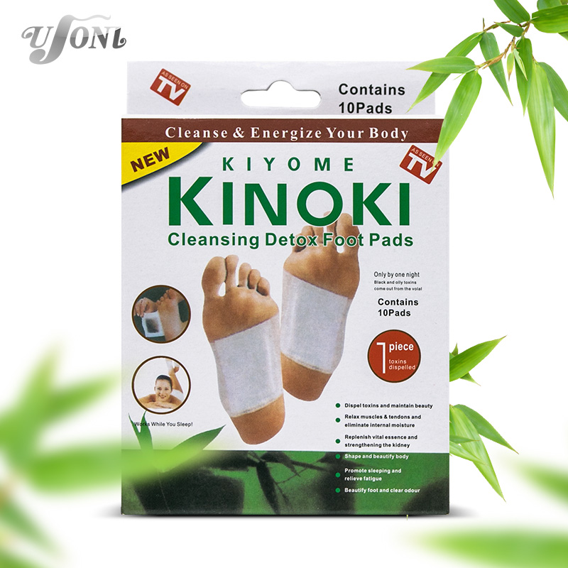 Retail box 10Boxes Cleansing Detox Foot Kinoki Pads Cleanse Energize Your Body(1lot=10Box=200pcs=100pcs Patches+100pcs Adhesive)(China (Mainland))