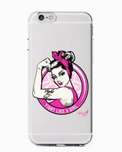 Feminist Girl Gang Klasik Seni Teks MAXIM Baru 2019 Fashion Lembut Bening Ponsel Case PENUTUP UNTUK iPhone 7 6 6 S 8 PLUS 5 S 5 X XS XR Xsmax(China)