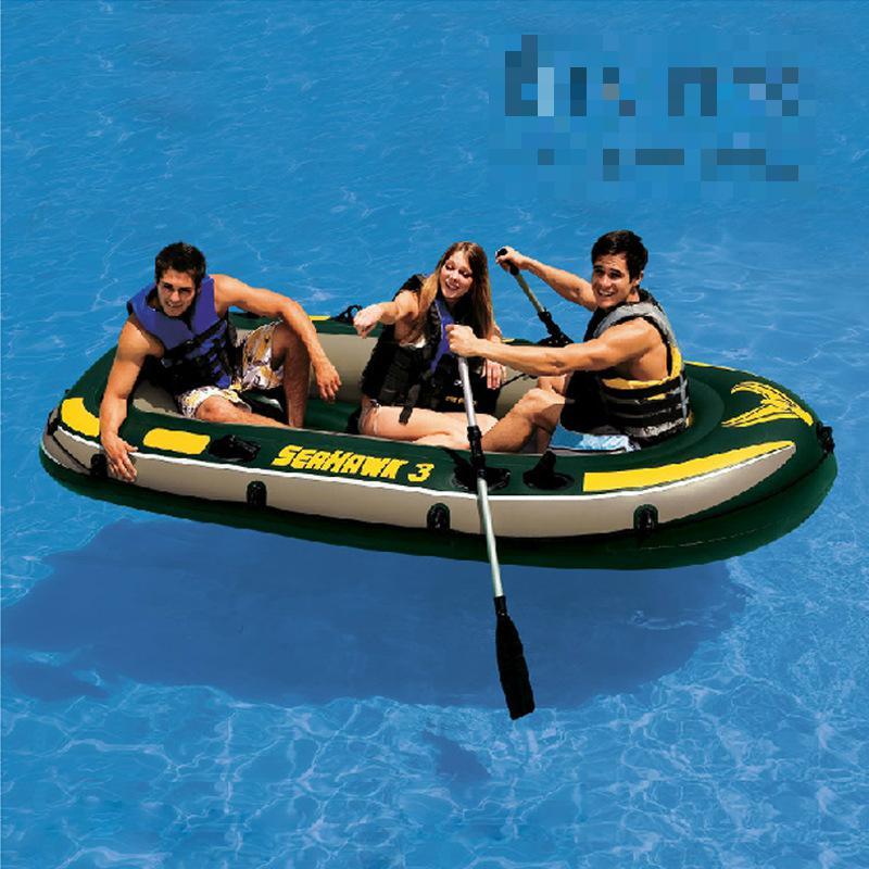 Outdoor military upset inflatable hovercraft rafting fishing boat canoeing rubber Double Fishing Kayak Folding Boat Pvc Boat(China (Mainland))