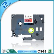 Compatible tze 18mm tape black on red tze-441 for PT-9700 PT-7600