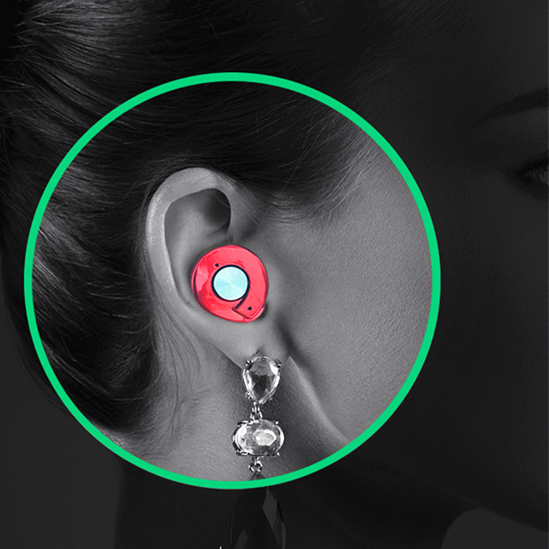 Noise Cancelling Twins Mini Wireless Bluetooth Earphone Sports Music Bluetooth Earbud Tiny Handsfree Running Headset Microphone