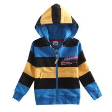 NOVA kids coats fashion designs striped boys winter hoodies coats children's hoodies baby cotton coats hoody cold winter wear(China (Mainland))