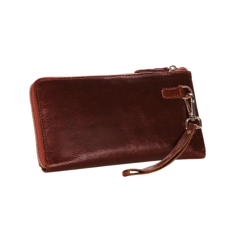 2015 New Men Bags Genuine Leather Wallets Business Handbag Wholesale High-Grade Leather Wristlet  Card Package Ultra-Thin Design