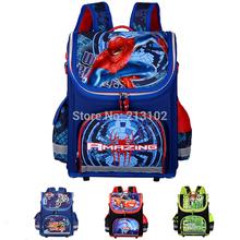 Neue Kinder Schultaschen Für Jungen Orthopädische Wasserdicht Rucksäcke Kind Jungen Spiderman schulranzen Ranzen Rucksack Mochila escolar(China (Mainland))