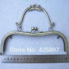 10pcs/lot DIY Purse 20.5cm antique Bronze Color Plum Blossom Metal Purse Frame Handle for Bag Sewing, Free shipping!(China (Mainland))