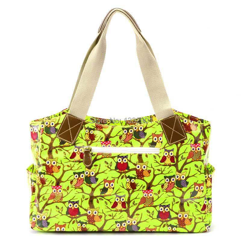 Owl Print Oilcloth Top Handle Bag Carry-All Tote Shoulder Bag Canvas Strap(China (Mainland))