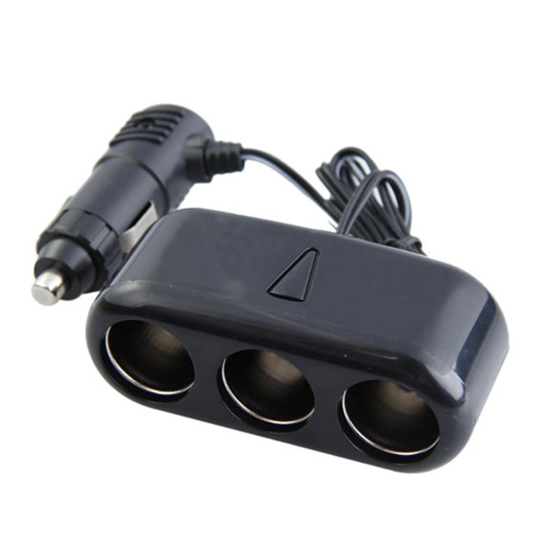 Гаджет  Free Shipping Hot Sale 3 Ways Triple Car Cigarette Lighter Socket Splitter 12V Charger Adapter ASAF None Автомобили и Мотоциклы